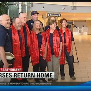 Local nurses home from earthquake stricken Nepal