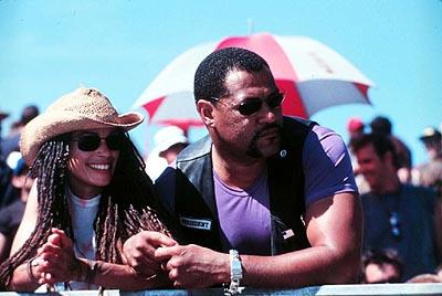 Lisa Bonet and Laurence Fishburne in DreamWorks' Biker Boyz