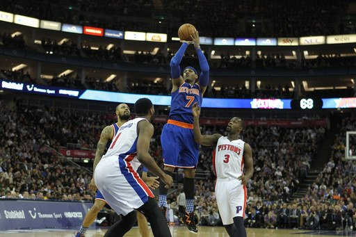 Knicks win in London, beat Pistons 102-87