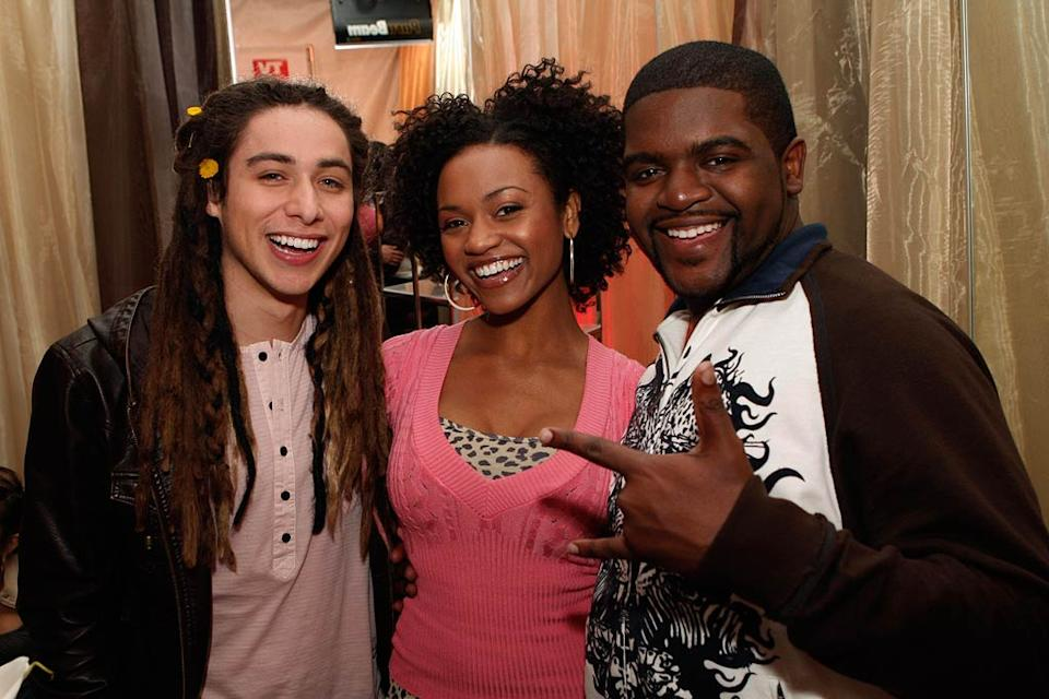 Finalists Jason Castro, Syesha Mercado and Chikezie celebrate at the American Idol Top 12 Party