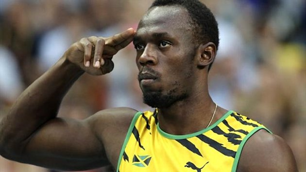Jamaica's Usain Bolt before the 100m heats at the World Championships in Moscow (Reuters)