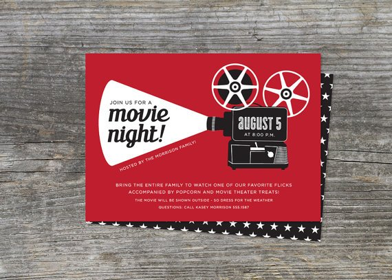 Retro Movie Invites