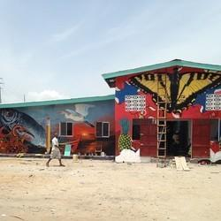 Baltimore Artist Creates Beautifully Bold School Murals In Liberia, Now Ebola-Free