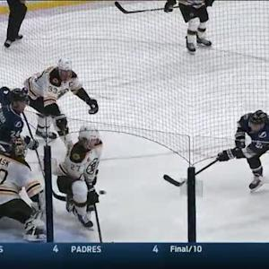 Valtteri Filppula wins face-off then scores