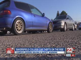 Car Theft At Bakersfield College Is Growing