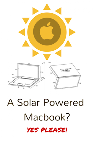 A Solar Powered Macbook? Yes Please!