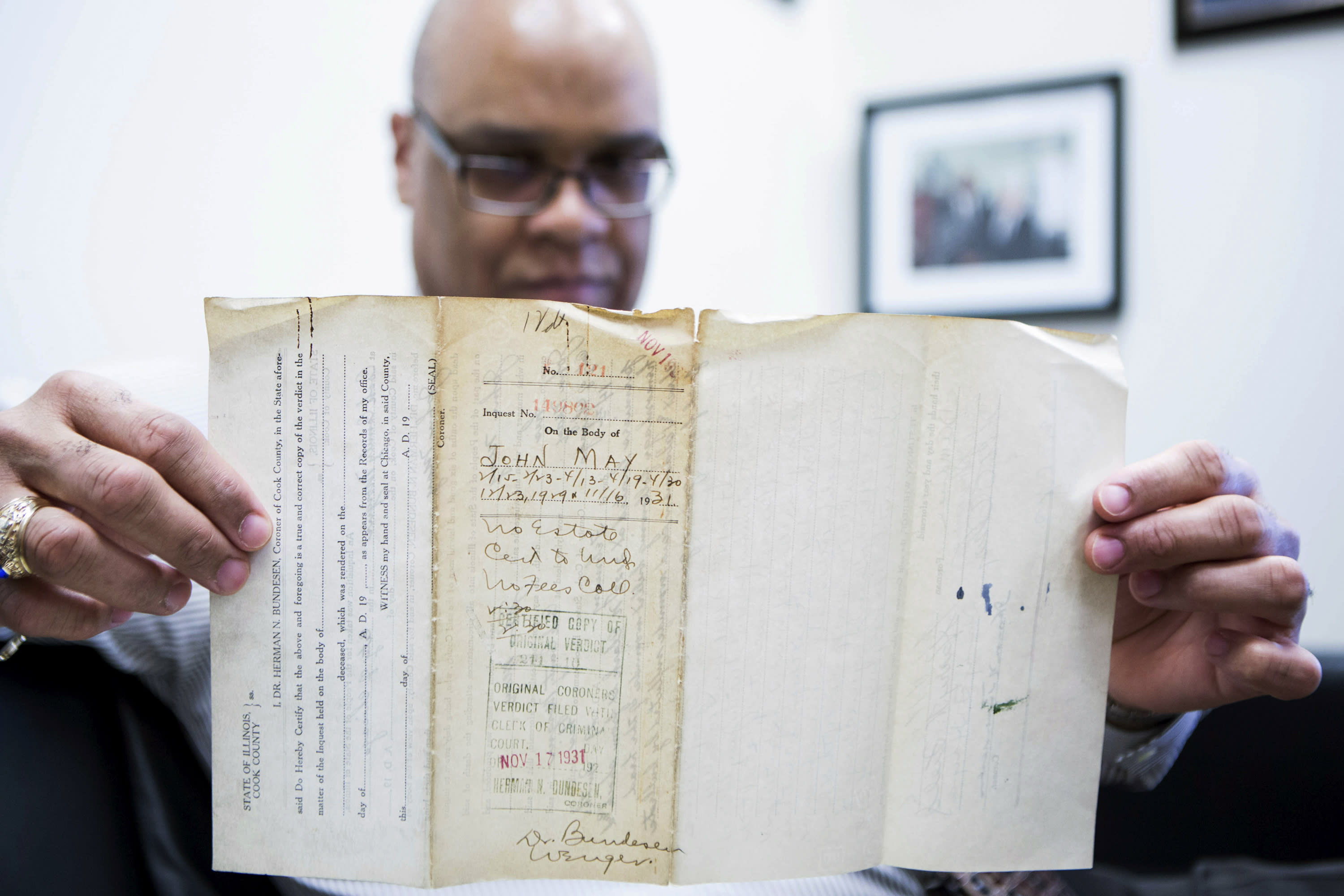 Autopsy reports found from 1929 Valentine's Day massacre