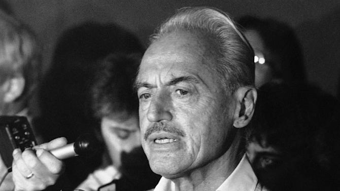 FILE - This July 16, 1981 file photo shows baseball union leader Marvin Miller speaking to reporters after rejecting a proposal to end a baseball strike, in New York. Miller died Tuesday, Nov. 27, 2012 in New York. He was 95. (AP Photo/Howard, File)
