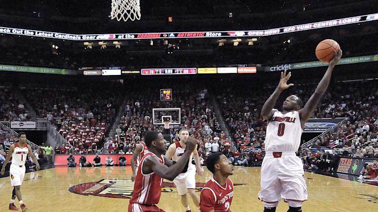 No. 18 Louisville hits 15 3s, routs Houston 91-52