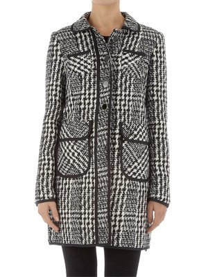 Dorothy Perkins Black and White Boucle Coat