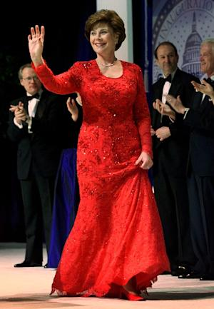 FILE - This Jan. 20, 2001 file photo shows first lady…