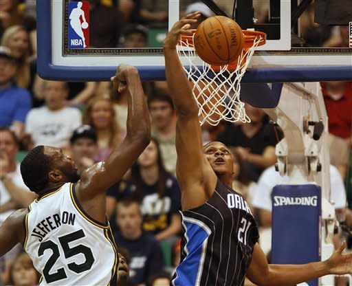 Harris fuels Jazz win over Magic in OT 117-107