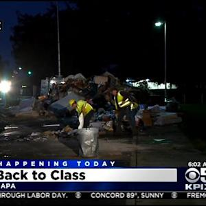 Napa Students Returning To School As Crews Work To Clear Dumping Zones