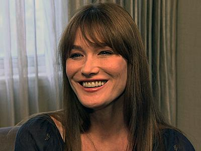 Carla Bruni Takes Spotlight in Stride