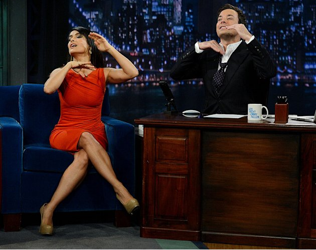 Salma Hayek, Jimmy Fallon