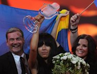 Sweden's Loreen celebrates after winning Eurovision 2012