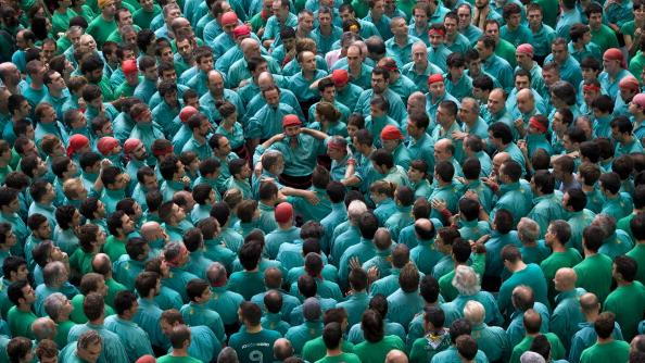 Human Towers Are Built In The 24th Tarragona Castells Competition