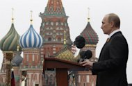 The Kremlin said Thursday Russian President Vladimir Putin,pictured in Red Square in Moscow on May 9, is too busy to attend a summit hosted by Barack Obama in the United States next week, in an inauspicious start to their new relationship