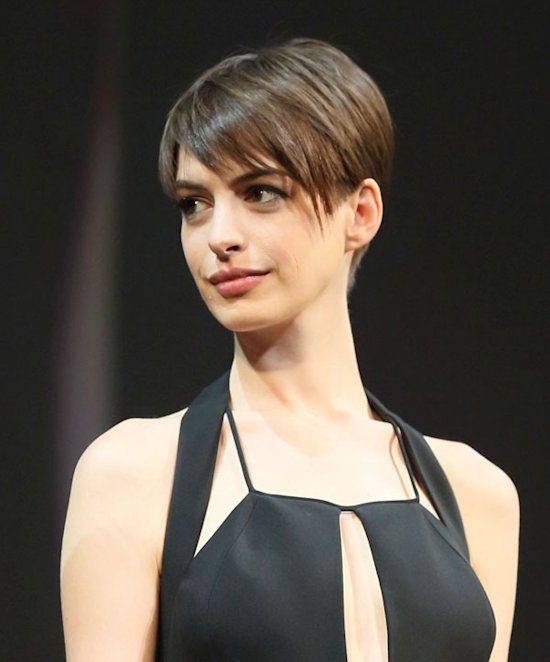 Anne Hathaway Grows Out Her Cropped Hair As She Embarks On