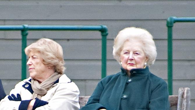 Baroness Thatcher Spends The Afternoon In Battersea Park