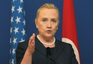 US Secretary of State Hillary Clinton attends a press conference in Istanbul, on August 11. Clinton will visit Beijing next week, China's official Xinhua news agency reported Tuesday, amid growing tensions over regional territorial disputes