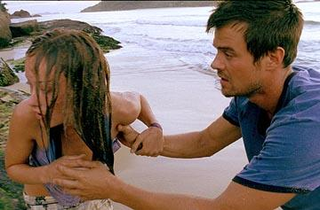 Olivia Wilde and Josh Duhamel in Fox Atomic's Turistas
