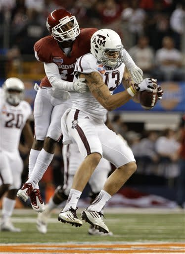 Manziel, Texas A&M beat Oklahoma 41-13 in Cotton