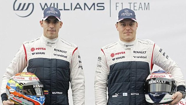 Williams Formula One drivers Pastor Maldonado (L) and Valtteri Bottas (Reuters)