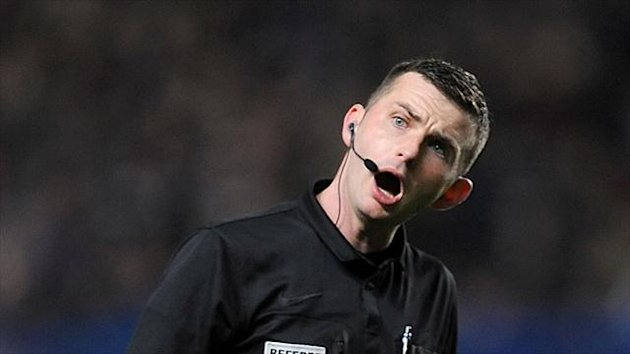 Referee Michael Oliver was heavily criticised by Rotherham manager Steve Evans