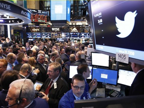 twitter new york stock exchange trader