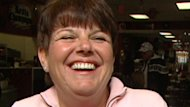 Jo Ann Champagne blames her husband for the premature spending spree in anticipation of claiming their $50-million lottery prize.