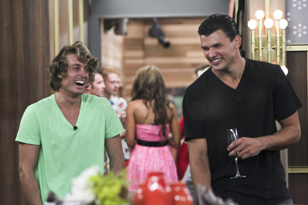 "Houseguests David and Jeremy during the season premiere of ""Big"