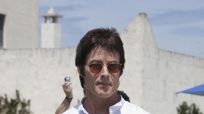 """In this photo released Wednesday, May 9, 2012 by Bell Phillip Television Productions Inc., Ronn Moss, who plays Ridge, stands during the shooting of TV soap opera """"The Bold and the Beautiful"""", in Masseria San Domenico, Italy, Sunday, May 6, 2012. (AP Photo/Damiano Guberti, Bell Phillip Television Productions, Inc.)"""