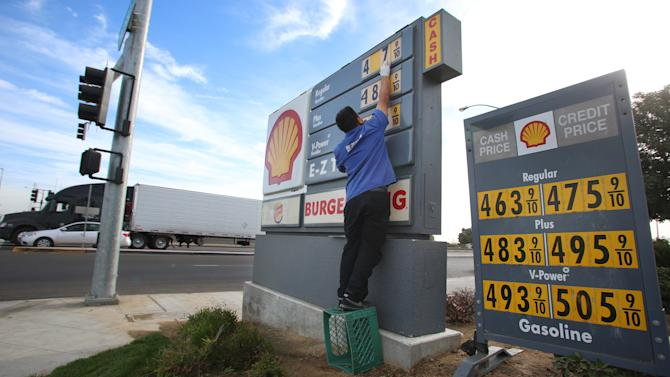 Gasoline prices predicted to fall in 2013