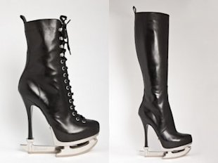 DSquared2's Skate Moss shoes look dangerous. Photos courtesy of Glamour