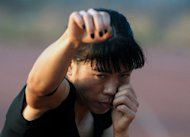 Indian boxer MC Mary Kom during a training session in Pune on April 20. From her beginnings as a poor farmers&#39; daughter in a troubled corner of India, &quot;Magnificent Mary&quot; has fought her way up to become five-times world boxing champion