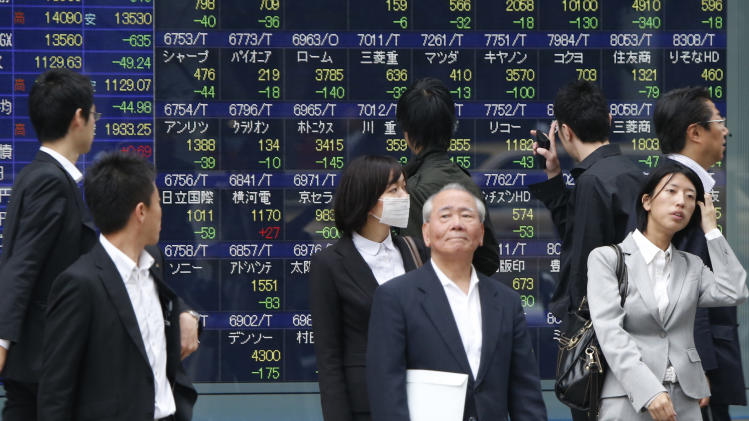 Asian stock markets choppy after US lukewarm data