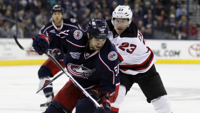 Johnson's OT goal lifts Blue Jackets over Devils 3-2
