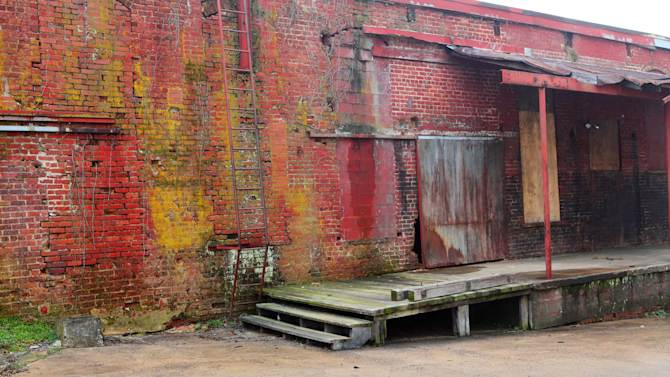 "This undated image provided by VisitNC.com shows the warehouse space in Shelby, N.C., which was used for reaping scenes in ""The Hunger Games"" movie. The movie was filmed entirely in North Carolina, which is gearing up for tourism from fans. (AP Photo/VisitNC.com, Bill Russ)"
