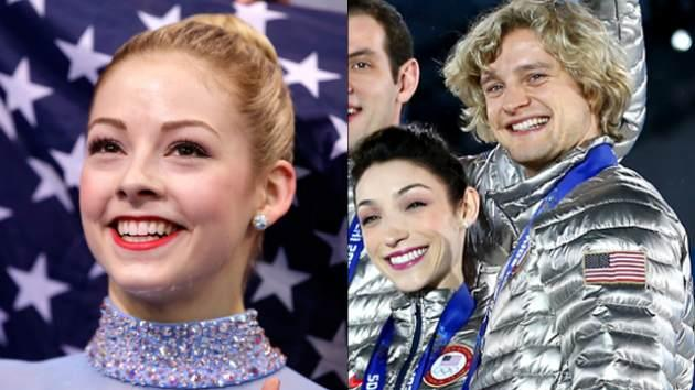 Gracie Gold, Meryl Davis, Charlie White -- Getty Images