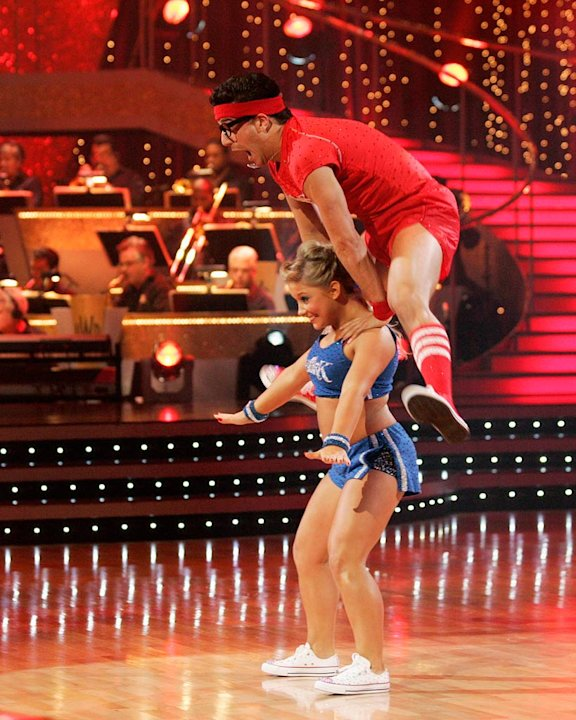 "Shawn Johnson and Mark Ballas perform the Lindy Hop to ""Ready Teddy!"" by Little Richard on ""Dancing with the Stars."""
