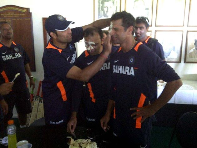 Rahul Dravid celebrates his 39th birthday in Perth Australia. Photo courtesy: Pragyan Ojha