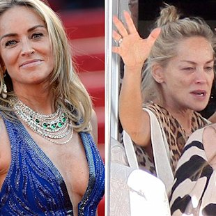 Sharon Stone sem make