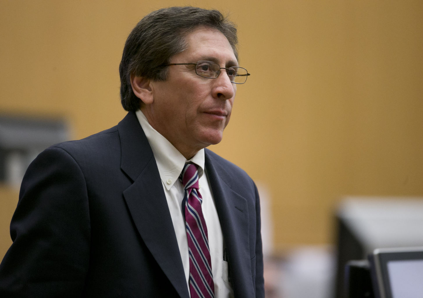 Prosecutor Juan Martinez looks on during the cross examination of Dr ...