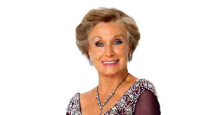 "Actress Cloris Leachman competes in season 7 of ""Dancing with the Stars."""