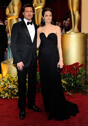 Brad Pitt and Angelina Jolie arrive at the 81st Annual Academy Awards held at Kodak Theatre, Los Angeles, on February 22, 2009 -- Getty Images