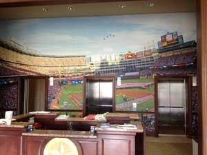 Megaprint.com Helps Texas Rangers Give Corporate Lobby a Baseball Atmosphere