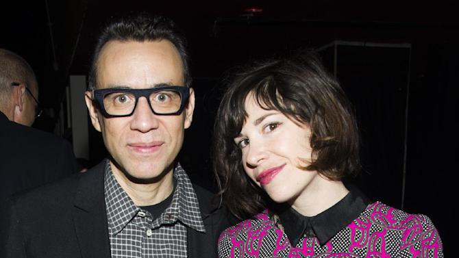 IMAGE DISTRIBUTED FOR IFC - Portlandia's Fred Armisen and Carrie Brownstein attend IFC's 2013-14 Upfront Unexpectaganza on Thursday, April 11, 2013 in New York City, New York. (Photo by Charles Sykes/Invision for IFC/AP Images)