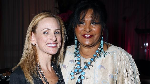Marlee Matlin (left) Pam Grier (right) are seen at the Visionary Awards benefiting the Entertainment AIDS Alliance, on Wednesday, Nov. 14, 2012 in Los Angeles. (Photo by Todd Williamson/Invision for the Entertainment AIDS Alliance/AP Images)