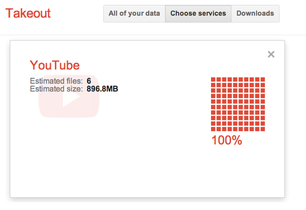 Download All Your Original YouTube Videos With Google Takeout